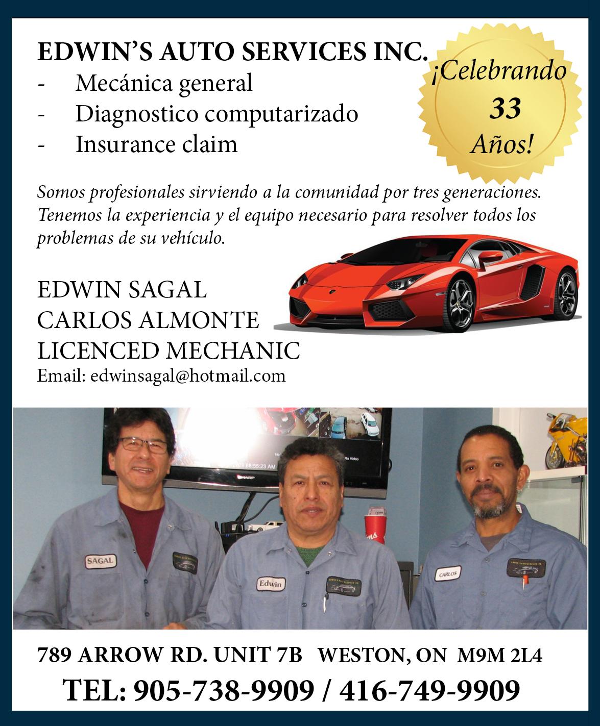 Edwin Auto Service – Sirviendo a la comunidad por tres generaciones